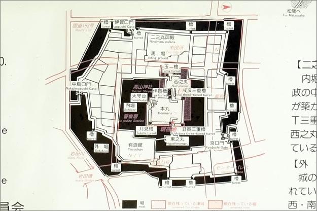 津城縄張図