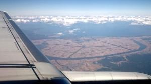 飛行機からの景色(多分秋田付近)