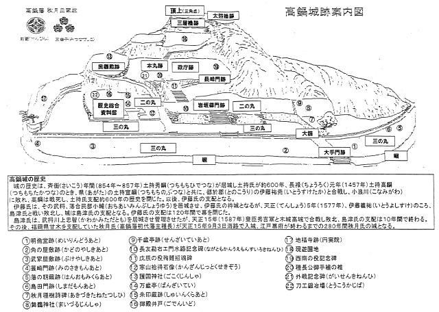 高鍋城跡案内図