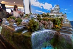 姫路城の巨大ジオラマ。