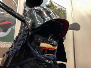 津市コーナーの藤堂高虎公甲冑。津祭のイベント用だとか。